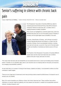 Australian Seniors article April 2013